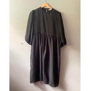Plus Size Variations  Sheer Black Dress